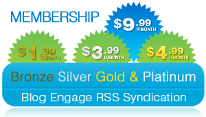 Blog Engage RSS Syndication Subscription Service Bronze Membership